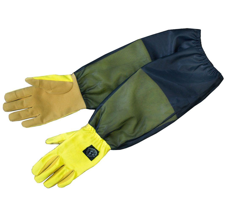 ガーデングローブ 防虫対策 グローブ、虫よけ腕カバー付女性専用手袋 レディース手袋