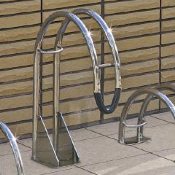 サイクルラック S 3型 高位タイプ 前輪式 駐輪場向け自転車スタンド ステンレス 送料無料
