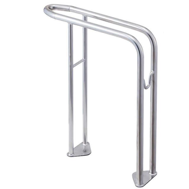 サイクルラック S 5型 オールステンレス 高位タイプ 前輪式 駐輪場向け自転車スタンド 送料無料