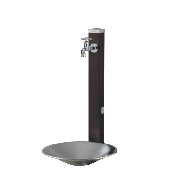 立水栓ユニット スプレスタンド 水受けパン+1コ蛇口セット 手洗い場 外水栓 ガーデンパン送料無料