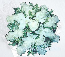 ◆「ピュア・エンジェル」(ラウンド・タイプ)◆とっておきの!「ホワイト・ブライダル・ブーケ」