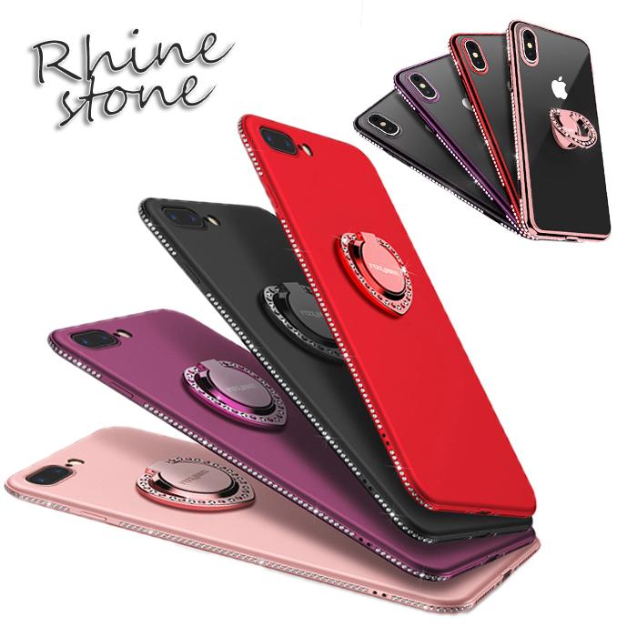 送料無料 スマホリング付 iphone 特別セール品 se ケース iphone8ケース iphone7ケース iphone7 plus iphone6 7 6 iphone6s スマホスタンド ソフト リングホルダー シリコン iphone6ケース 情熱セール iphone8 iPhoneX リング付き ケースiPhone8 アイフォン7 iPhone7ケース プラス ラインストーン 後レビューで強化ガラスフィルム付