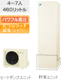 ダイキン(DAIKIN)エコキュート 【EQ46RSV】 Sシリーズ オートタイプ 460L パワフル高圧 たっぷリッチ給湯/シャワ