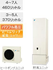 ダイキン(DAIKIN)エコキュート 【EQ37PHV】 寒冷地 Mシリーズ 給湯専用らくタイプ 370L パワフル高圧 たっぷリッチ給湯/シャワ JIS対応