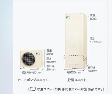 ダイキン(DAIKIN)ネオキュート 【HQR32PFV】 新冷媒[R32] 家庭用ヒートポンプ給湯機 フルオートタイプ 角型 320L