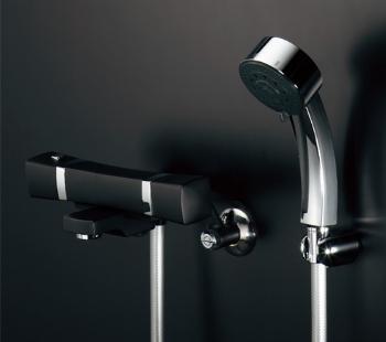 カクダイ(KAKUDAI) 水栓金具シリーズ 【173-239K】 壁付サーモスタットシャワー混合水栓 サーモスタットシャワー混合栓(マットブラック)