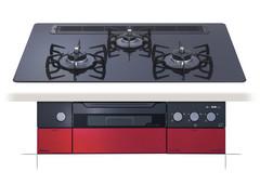 パロマ(PALOMA) ビルトインコンロ【PD-900WR-75CK】クレアシリーズ 左右強化力 幅75cm オートグリル機能 ガラストッププレート クリアパールブラック