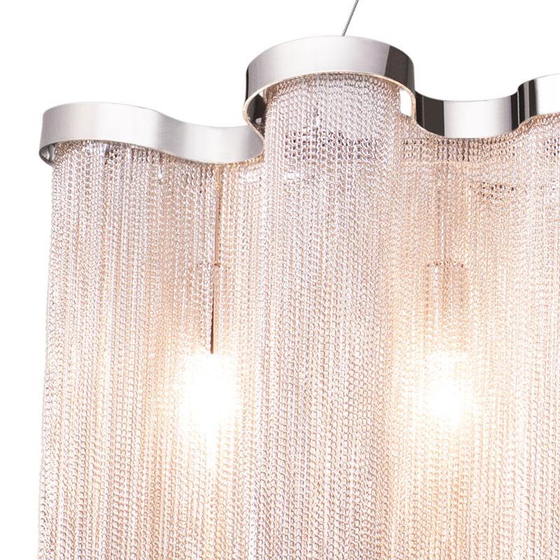 トーヨーキッチンスタイル (TOYO KITCHEN STYLE) 照明 【SFHL-EMPRE-LED】ドレス シェードアルミチェーン シルバー