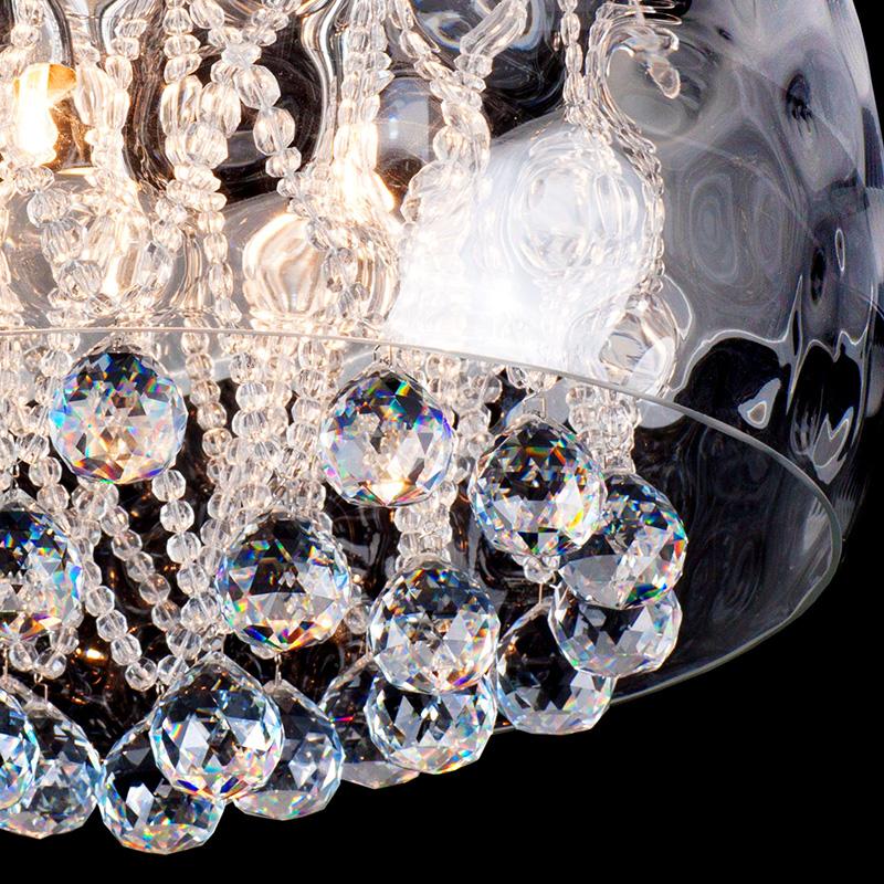 トーヨーキッチンスタイル (TOYO KITCHEN STYLE) 照明 【SFHL-ICE-CLEAR50】クリスタルボールシーリングライト本体 スチール(メッキ)