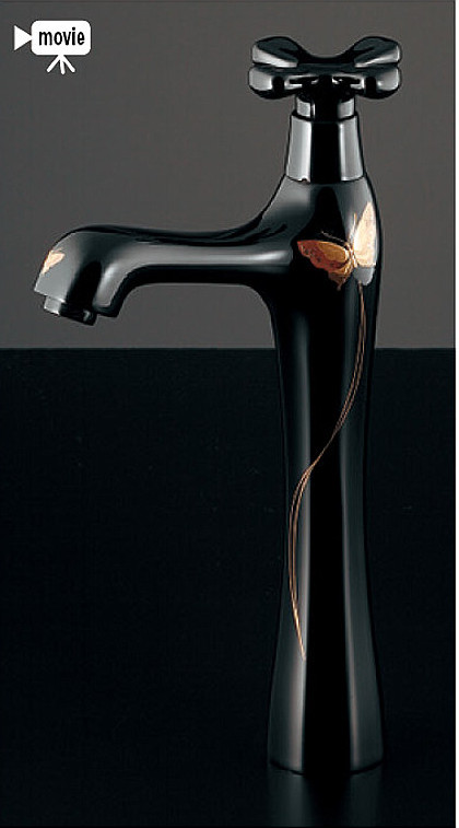 カクダイ 洗面手洗水栓金具【716-844-13】立水栓(トール) 取付穴径22-27ミリ・厚5-35ミリ