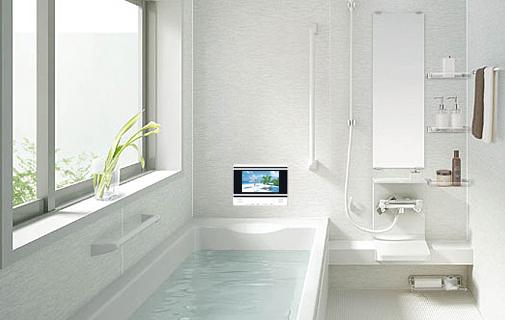 ツインバード 浴室テレビ VB-BS103W 防水液晶テレビ 10V型 3波(地デジ・BS・110度CS)対応 ホワイト