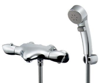 カクダイ サーモスタット混合栓 壁付 シャワー 173-235K 今季も再入荷 混合栓 最安値に挑戦