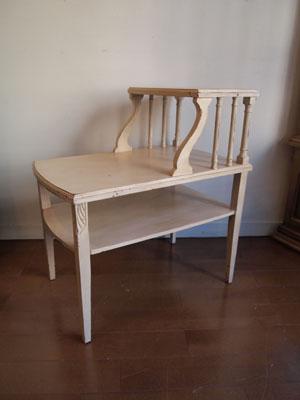 アンティーク アイボリー ステップテーブル サイドテーブル