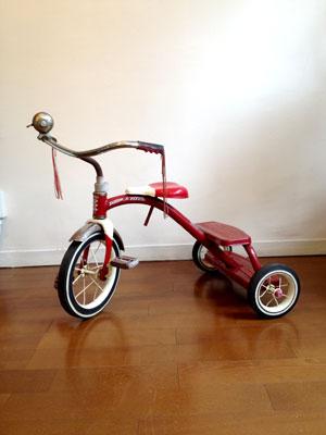 アンティーク RADIOFLYER(ラジオフライヤー)の赤い三輪車