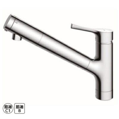 TOTO キッチン用エコシングル浄水器兼用混合水栓 〈台付き1穴〉(吐水切り替えタイプ)TKS05307J