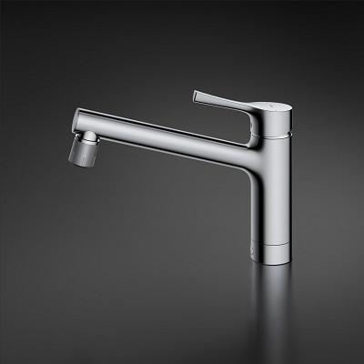 TOTO キッチン水栓 GGシリーズ 台付シングル混合水栓 吐水切り替えタイプ 一般地・寒冷地共用 メタルハンドルTKS05303J