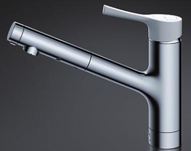 TOTO TKS05306J 1穴キッチン水栓 GGシリーズ 樹脂ハンドル ハンドシャワー