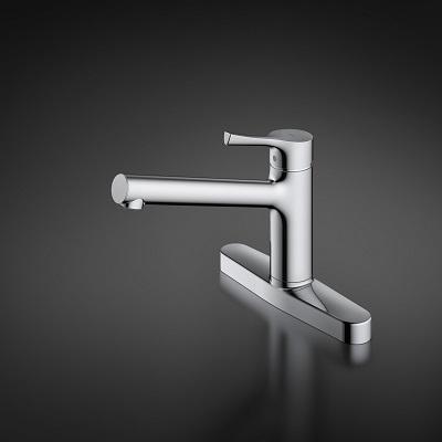 TOTO キッチン用エコシングル混合水栓〈台付き2穴〉TKS05310J