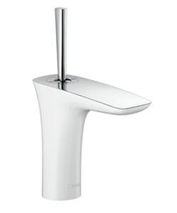 CERA 洗面水栓 Pura Vida 湯水混合栓 HG15074S-40【ホワイト&クロム】