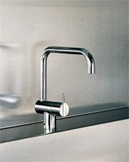 CERA キッチン水栓 ボラ キッチン用湯水混合 KW0231103S クロム