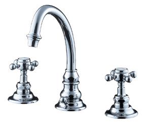 CERA 洗面水栓 ELOISE 湯水混合栓 HR2260S-CH【クロム】