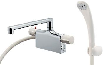 カクダイ 水栓金具 【175-003K】 サーモスタットシャワー混合栓(デッキタイプ)