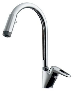 カクダイ 水栓金具 【117-120K】 シングルレバー混合栓(シャワーつき)