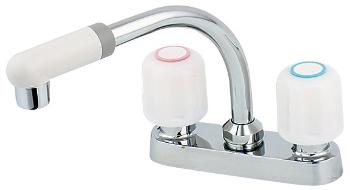 カクダイ 水栓金具 【151-006】 2ハンドル混合栓