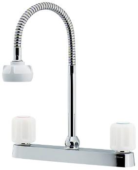 カクダイ 水栓金具 【151-008】 2ハンドル混合栓(シャワーつき)