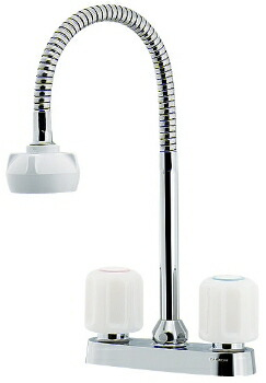 カクダイ 水栓金具 【151-007】 2ハンドル混合栓(シャワーつき)