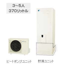 ダイキン(DAIKIN) エコキュート 【EQN37NFV】 370L 角型 フルオート