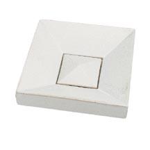 カクダイ 手洗器 【493-017-W】 角型手洗器//月白