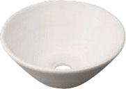 カクダイ 手洗器 【493-011-W】 丸型手洗器//月白