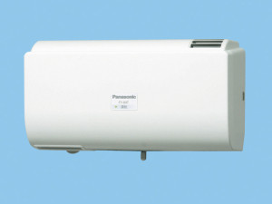 パナソニック 換気扇 【FY-8AT-W】 Q-hiファン自動運転形(8畳用) 同時給排タイプ 壁掛形 〈室内外温度差による自動運転形〉 8畳用 色:クリスタルホワイト