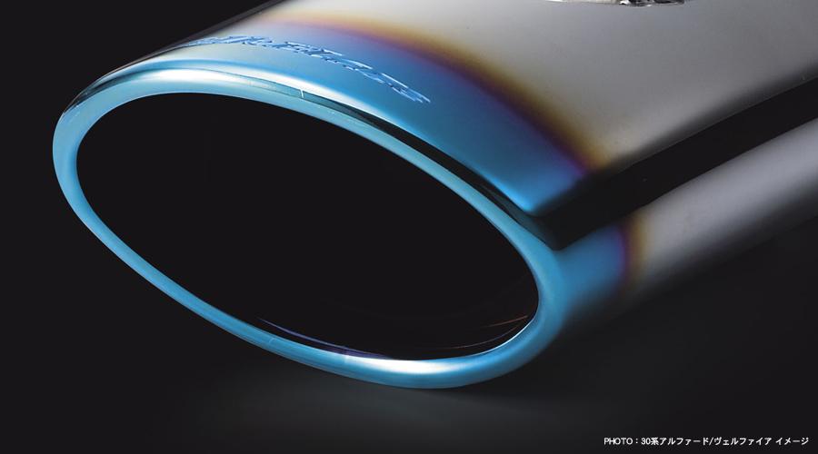 ケースペック シルクブレーズC-HR用オーバルタイプ チタンカラーステンレス マフラーカッター