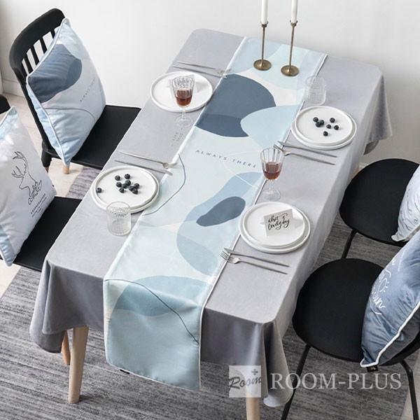 テーブルランナー 送料無料 ブルー テーブルマット テーブルクロス ダイニングテーブル 30cm×160cm 180cm 200cm 220cmtable-r0114 新生活