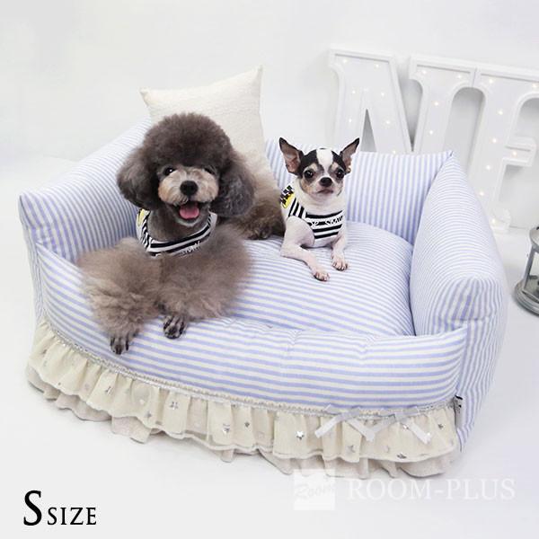ペットベッド ドッグベッド キャットベッド Sサイズ 犬 猫 夏用 冬用 パステルカラー ストライプ 子犬ベッド dbed-0050 新生活