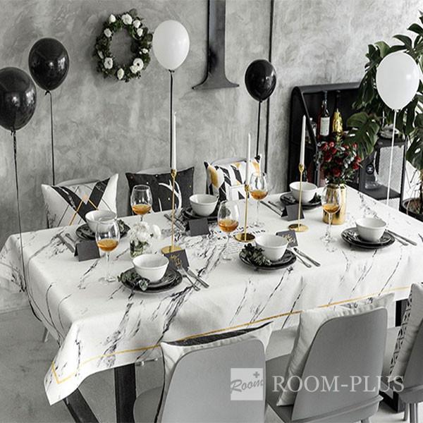 テーブルクロス モノトーン 送料無料 テーブルマット ダイニングテーブル 140cm×140cm 180cm 200cm 大理石柄 table-c0101 新生活