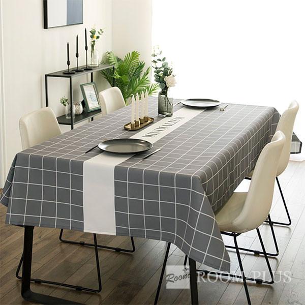 テーブルクロス おしゃれ グレー 送料無料 テーブルマット ダイニングテーブル 140cm×180cm 200cm 240cm table-c0116 新生活