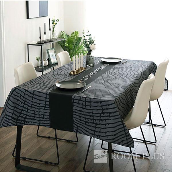 テーブルクロス おしゃれ グレー ブラック 送料無料 テーブルマット ダイニングテーブル 140cm×180cm 200cm 240cm table-c0117 新生活