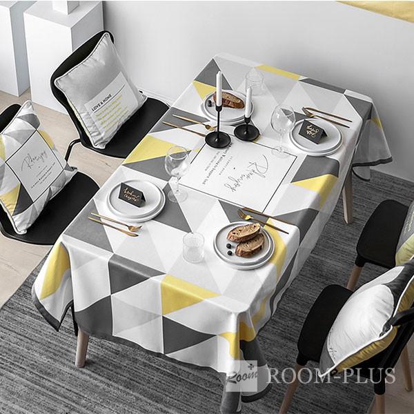 テーブルクロス おしゃれ ホワイト グレー イエロー 送料無料 テーブルマット 140cm×180cm 200cm  table-c0130 新生活