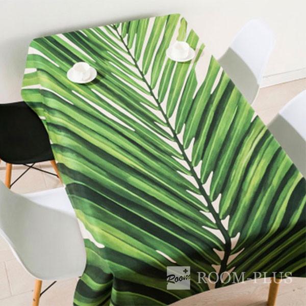 テーブルクロス 送料無料 テーブルマット ダイニングテーブル 140cm×180cm 200cm 220cm ボタニカル リーフ 植物 table-c0006 新生活