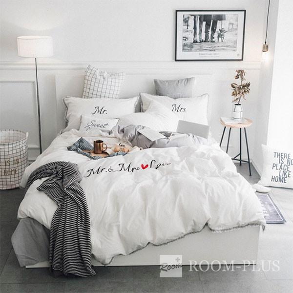 布団カバー 布団カバーセット シングルサイズ ダブルサイズ 海外直輸入 モノトーン ホワイト ピンク グレー Sサイズ Mサイズ bedding-0564 新生活