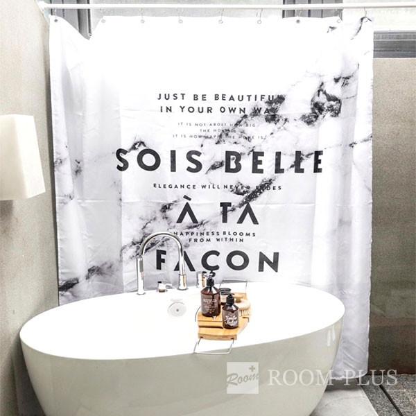 シャワーカーテン バスカーテン モノトーン ホワイト ブラック バス用品 防カビ 2サイズ bath-sc0045 新生活