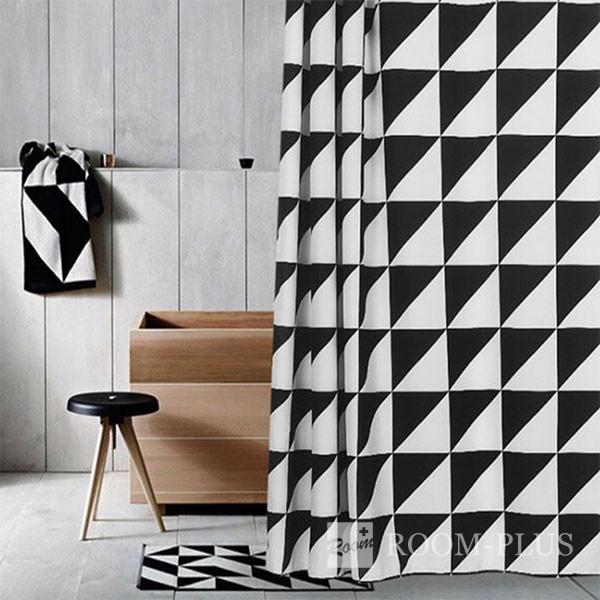 シャワーカーテン バスカーテン モノトーン 白黒 ブラック ホワイト モノクロ bath-sc0010 新生活