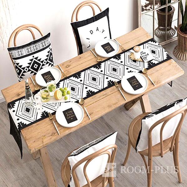 テーブルランナー モノトーン 白黒 送料無料 テーブルマット テーブルクロス ダイニングテーブル 30cm×160cm 180cm 200cm 220cm table-r0105 新生活