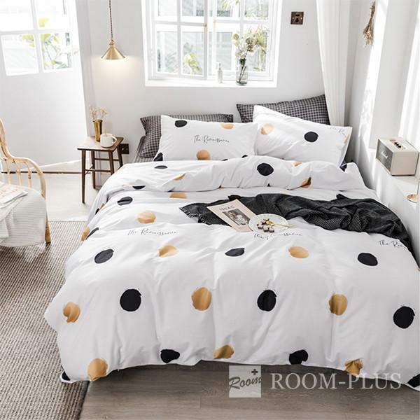 布団カバーセット Sサイズ Mサイズ 4点セット モノトーン ドット bedding-0587