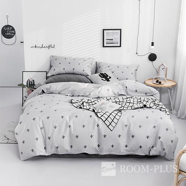 布団カバーセット Sサイズ Mサイズ 4点セット サボテン モノトーン bedding-0590