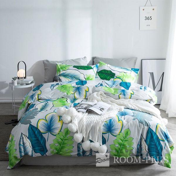 布団カバーセット Sサイズ Mサイズ 4点セット ボタニカル 夏 bedding-0593