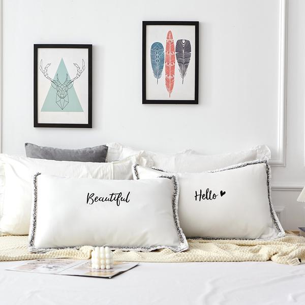 枕カバー ピローケース モノトーン 枕ケース まくらカバー ピンク グレー 新品 激安通販 送料無料 pillow-0006 寝室 新生活 ベッド用品 ホワイト ベッドインテリア